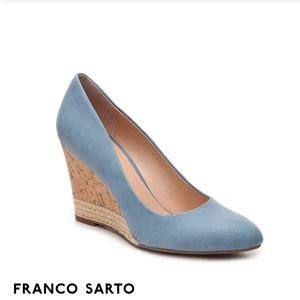 Franco Sarto Calix Blue Cork Wedges